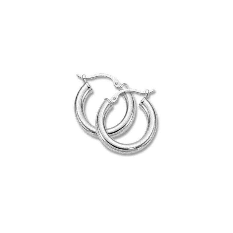 Carla Sterling Silver Tube Hoop Earrings