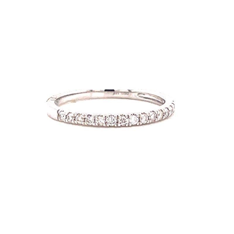 Corinth Collections  10 Karat White Gold Round Diamond Stacker Band
