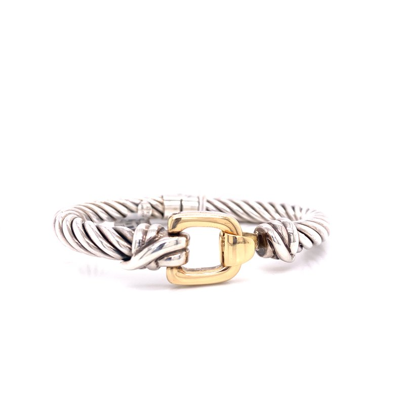 Corinth Collections  Italian Silver with 18K Yellow Gold Buckle
