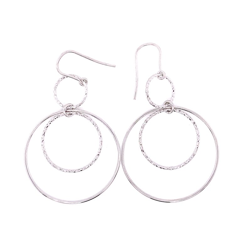 Corinth Collections  Sterling Silver Double Dangle Hoop