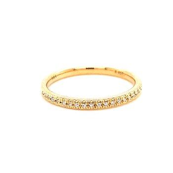 14 Karat Yellow Gold Diamond Stacker Band