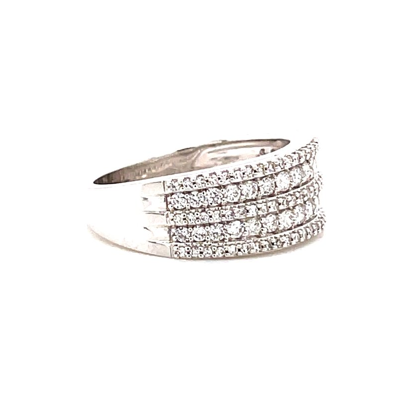 Corinth Collections  14 Karat White Gold Triple Row Diamond Band
