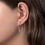 Gabriel 14 Karat Yellow Gold Bujukan Diamond Hoop Earrings