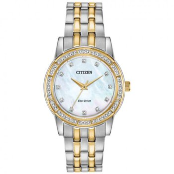 Ladies Two Tone Mother of Pearl Face Watch