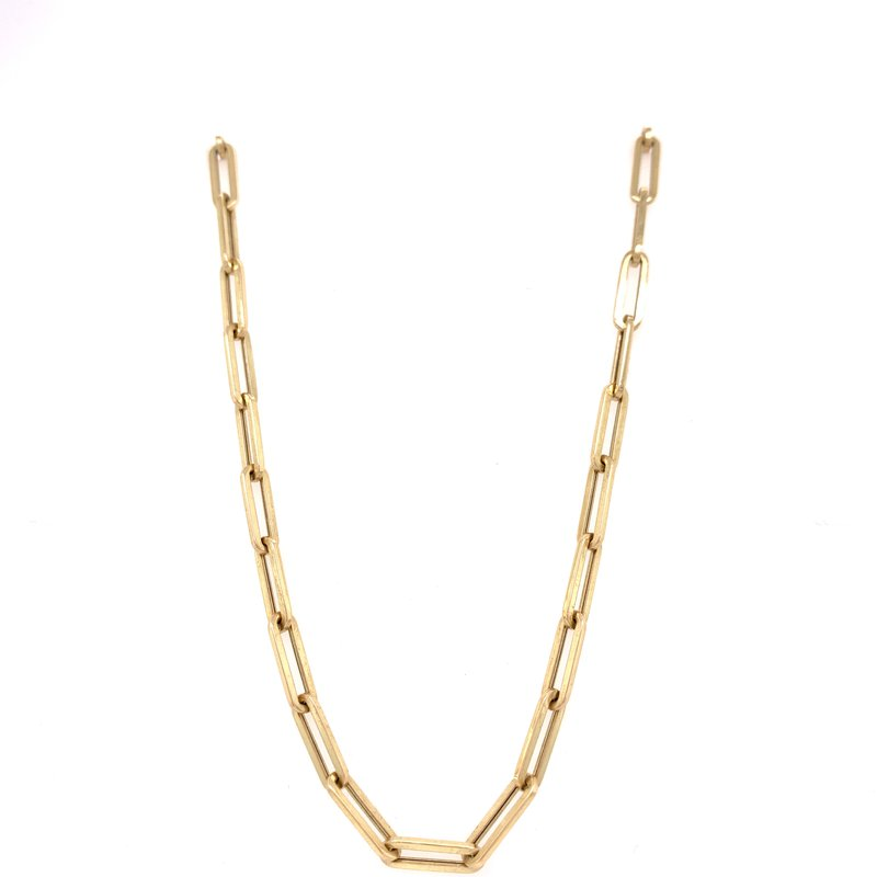 Corinth Collections  14K Yellow Gold Paper Clip Necklace