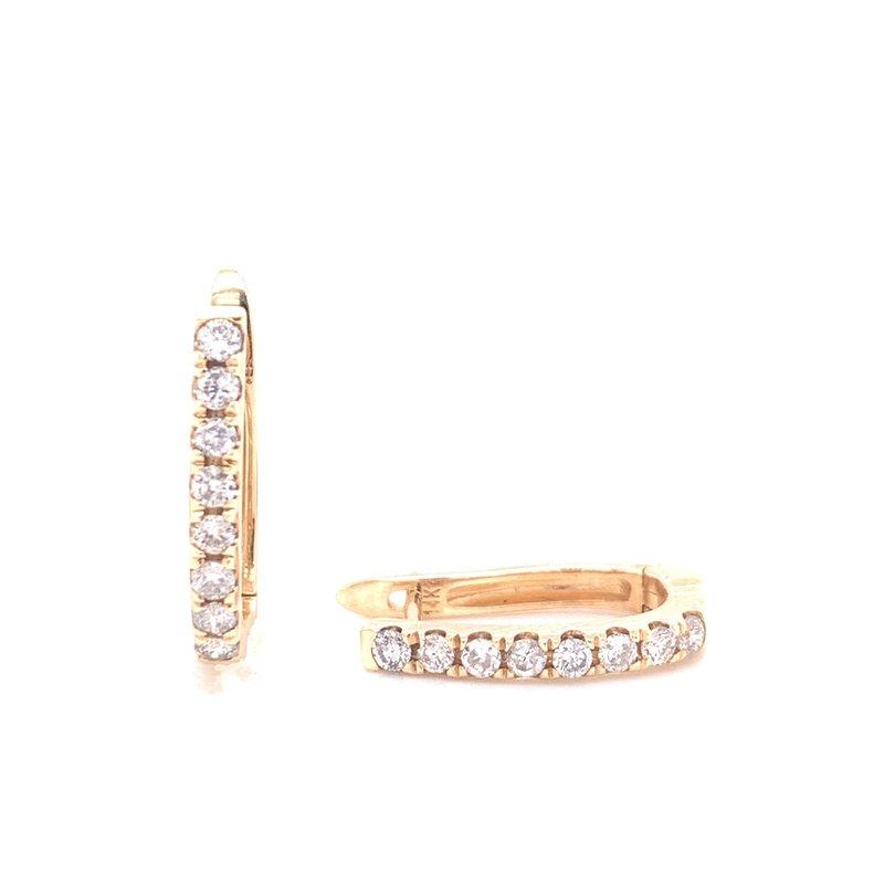 Corinth Collections  14K Yellow Gold Diamond Huggies