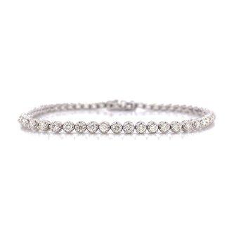 14K White Gold 2.0 cttw Diamond Tennis Bracelet