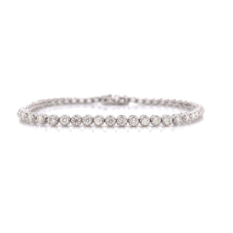 Corinth Collections  14K White Gold 2.0 cttw Diamond Tennis Bracelet
