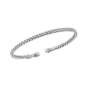 Italian Silver Traversa Cuff Bracelet