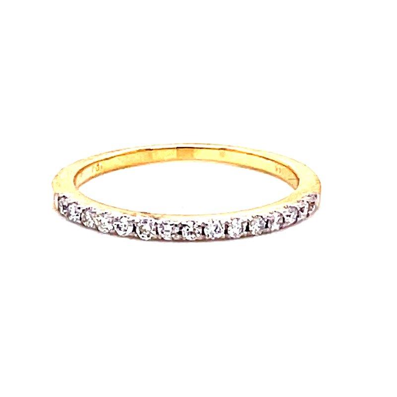 Corinth Collections  14 Karat Yellow Gold Round Diamond Stacker Band