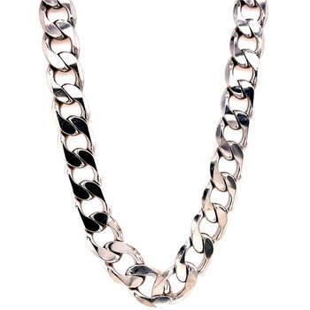 Sterling Silver Cuban Link Chain Necklace