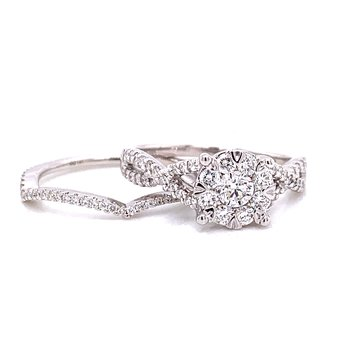 14 Karat White Gold Round Diamond Lovebright Solitaire with Infinity Shank