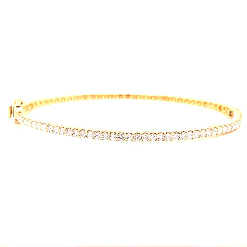Corinth Collections  14 Karat Yellow Gold Diamond Bangle Bracelet