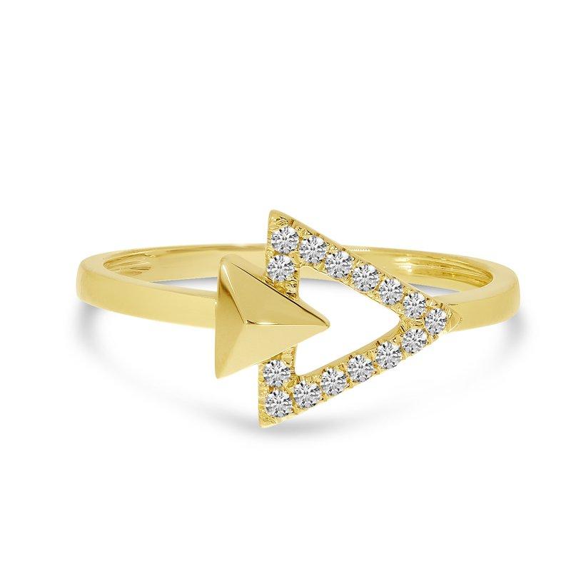 Corinth Collections  14 Karat Yellow Gold Double Diamond Triangle Fashion Ring
