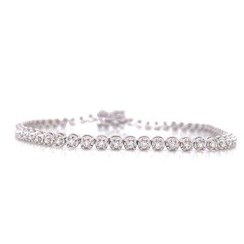 14K White Gold 1.0 cttw Diamond Tennis Bracelet