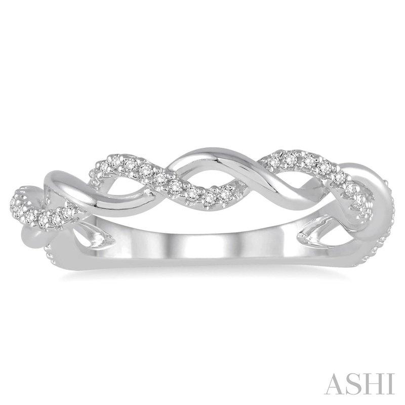 Ashi Diamonds 10 Karat White Gold Infinity Diamond Fashion Band