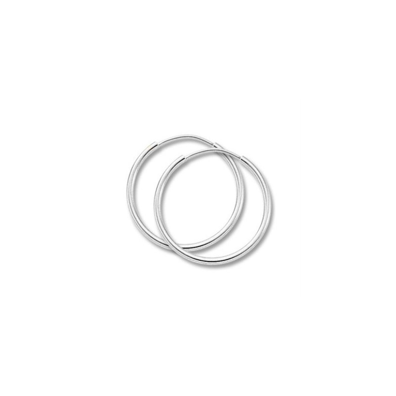 Carla Sterling Silver 3 x 50 mm Endless Tube Hoops