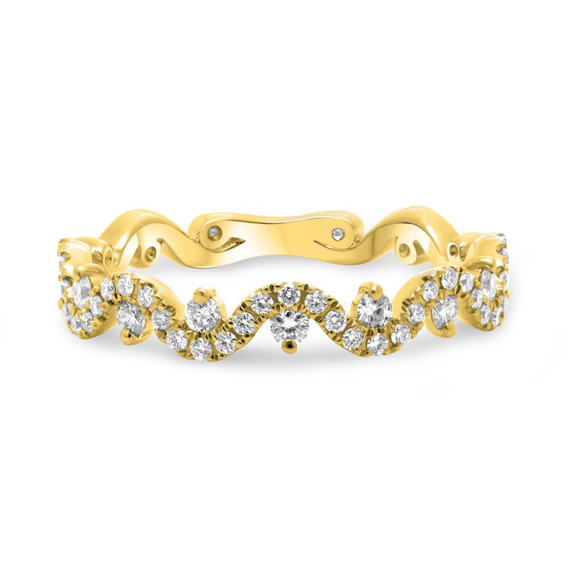 Corinth Collections  14 Karat White Gold Curvy Diamond Stacker Band