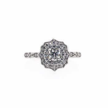 Fancy Halo with Round Center Ring