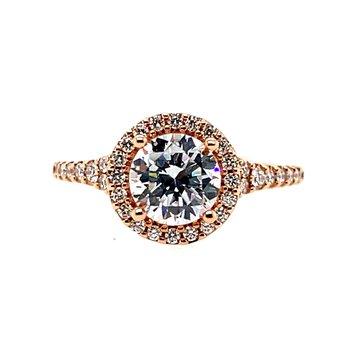 Romance Semi-Mounting Halo Center Ring