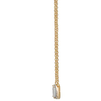 Eleganza Ladies Oblong Pendant with Drusy Quartz with Adjustable Chain