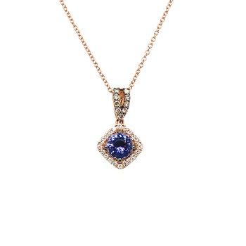 Levian Diamond & Blueberry Tanzanite Pendant