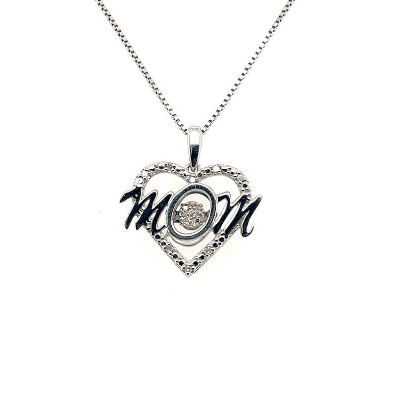 Gems One Diamond Rhythm Of Love Heart Mom Pendant