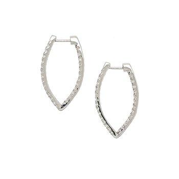 "Diamond ""V"" Shaped Earrings"