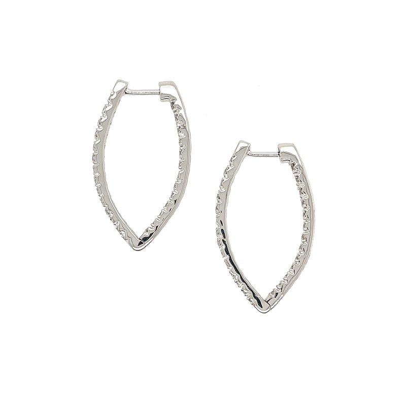 """Variety Gem Diamond """"V"""" Shaped Earrings"""