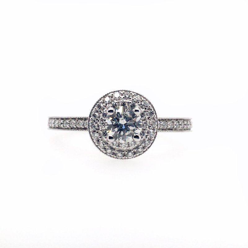 Kim International Double Halo with Round Center Ring