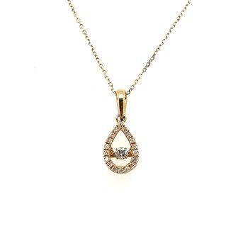 Floating Diamond Pear Shaped Pendant