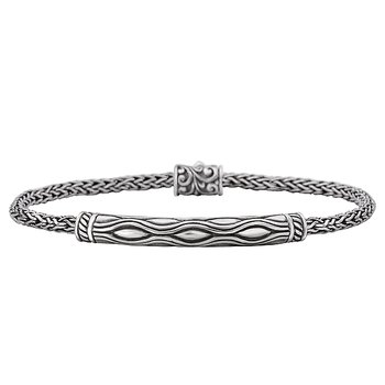 Eleganza Ladies Bar Bracelet Featuring an Artistic Design