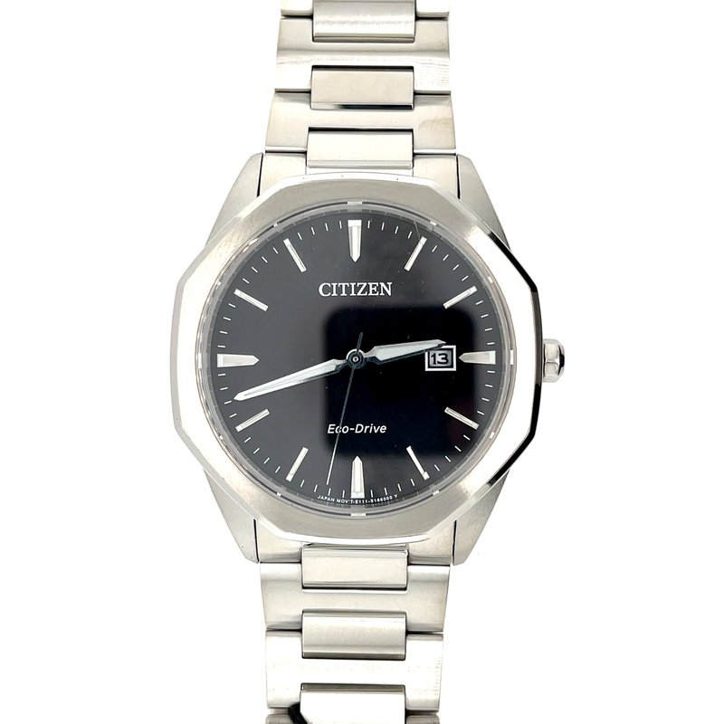 Citizen Citizen Watch, Black Dial With Silver Hands And Markings, Eco Drive Technology With Time And Date