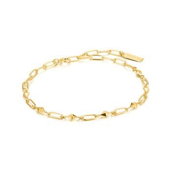 Gold Heavy Spike Bracelet