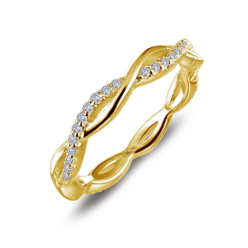 LaFonn Simulated Diamond Twist Ring