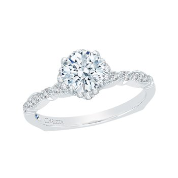 Carizza Round Diamond Engagement Ring (Semi-Mount)