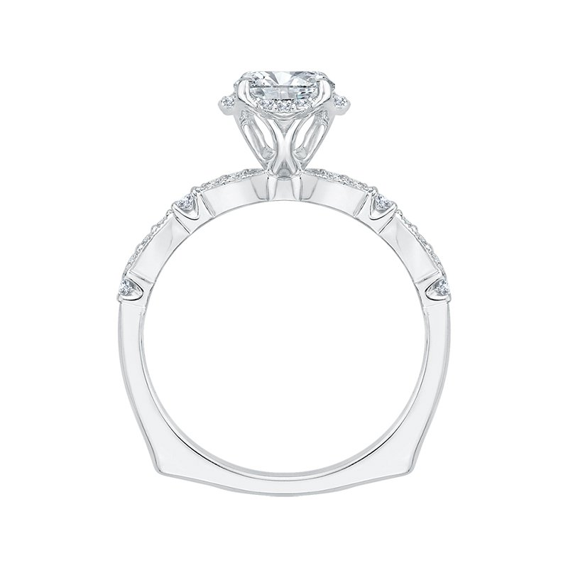 Shay Carizza Round Diamond Engagement Ring (Semi-Mount)