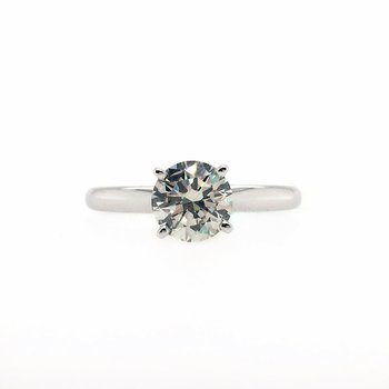 Lab Grown Round Diamond Solitaire Engagement Ring