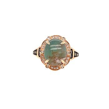 Levian Diamonds & Aquaprase Gemstone Ring