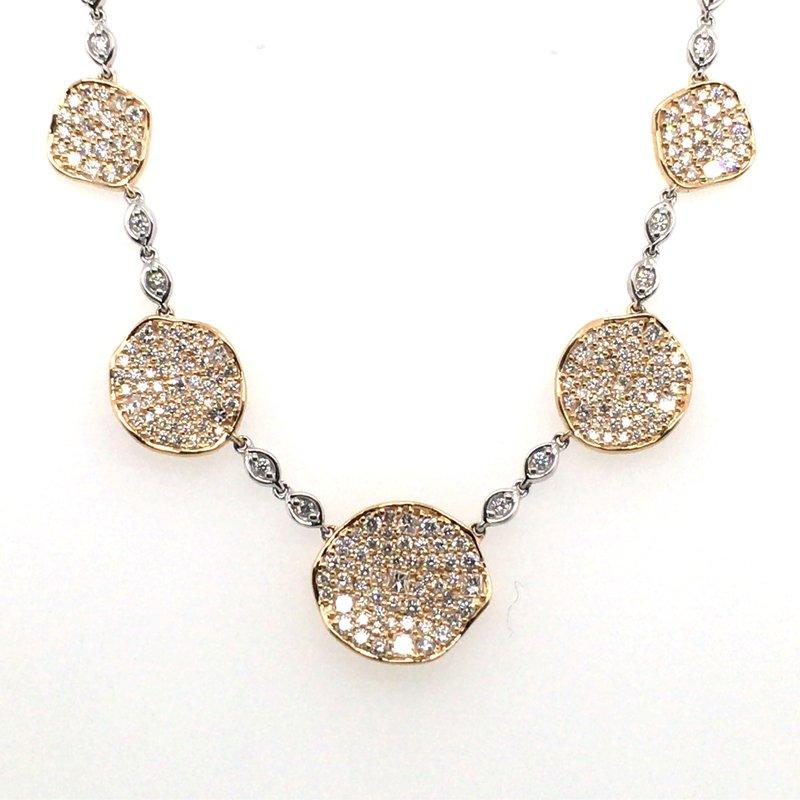 Variety Gem Diamond Disc Necklace