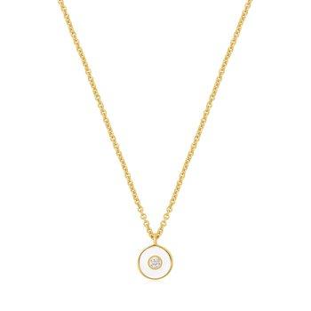 Bright Future Optic White Enamel Disc Necklace