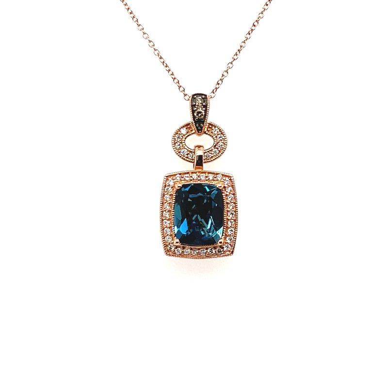 Le Vian Levian Diamond & London Blue Topaz Pendant