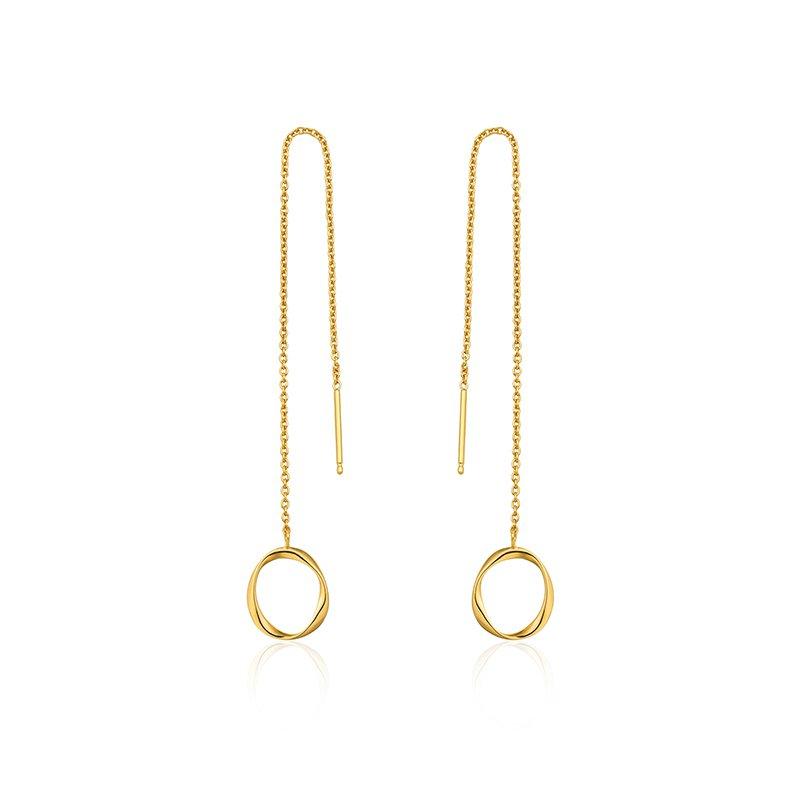 Ania Haie Swirl Threader Earrings