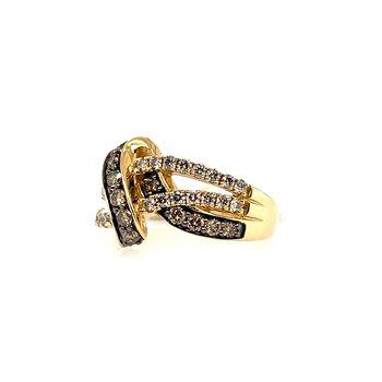 Levian Yellow Gold Diamond Fashion Ring