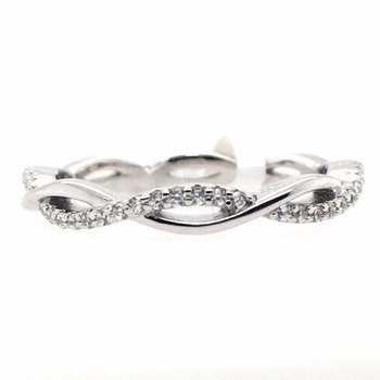 Simulated Diamond Stackable Twist Eternity Ring