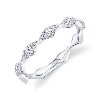 Ladies 0.38 Carat 14 Karat White Gold Diamond Band