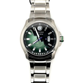Citizen Marvel Hulk Eco Drive Watch, Green And Black Dial, With Time And Date
