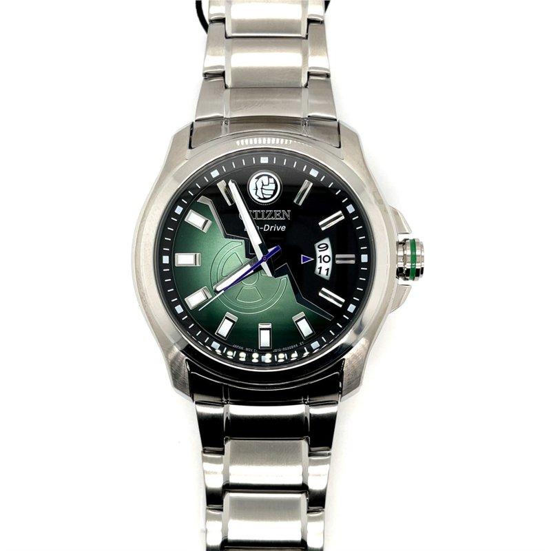 Citizen Citizen Marvel Hulk Eco Drive Watch, Green And Black Dial, With Time And Date