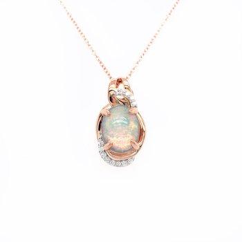 Le Vian Two Tone Neopolitan Opal Pendant With Vanilla Diamonds®