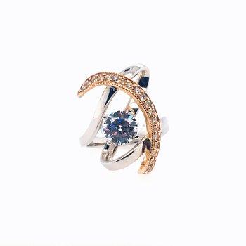 Semi-Mount Cubic Zirconia Diamond Ring